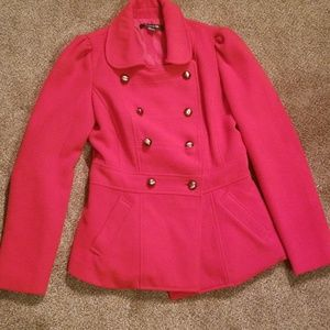 Red Hot Forever 21 Pea Coat (small)